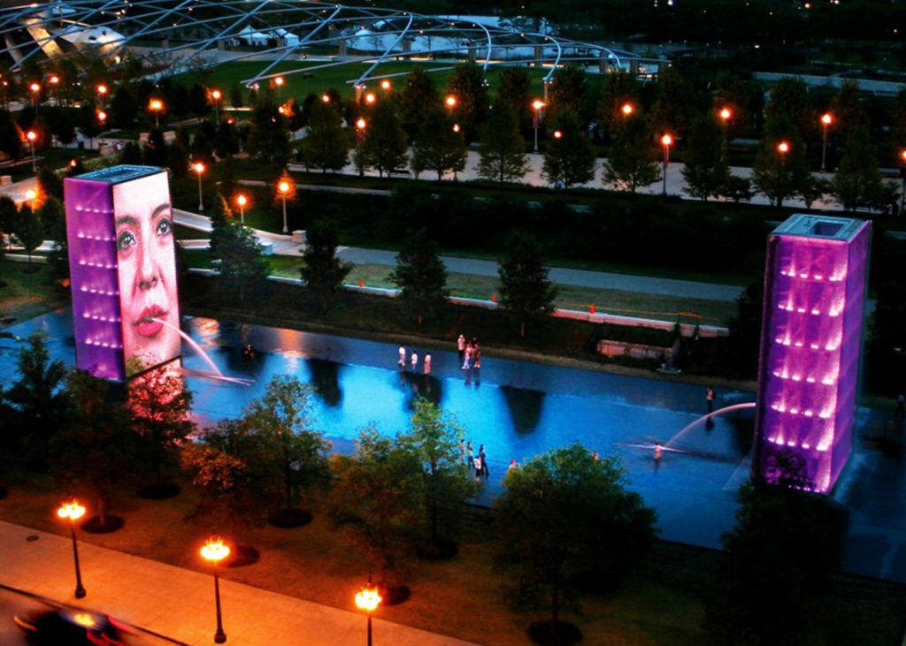 CCG awarded iconic Crown Fountain Evaluation Project | crown-fountain-night-1024x731